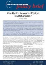 Can the EU be more effective in Afghanistan?