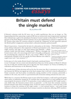 Britain must defend the single market